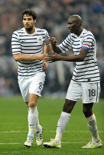 Yoann Gourcuff & Alou Diarra - France 0-0 Croatia (29.03.2011)