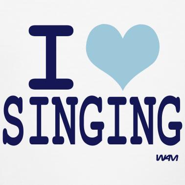 Singing wallpaper titled I Love Singing