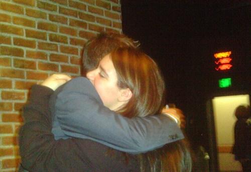 I got a hug! :)