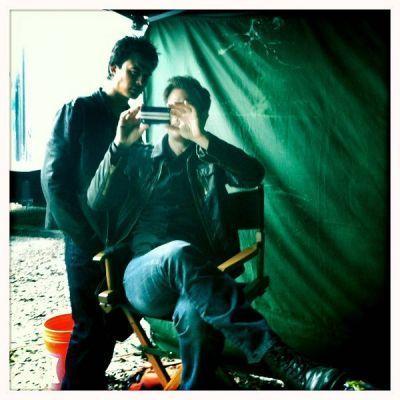 Ian and Matt On Set
