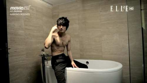 Hero Jae Joong wallpaper containing a hot tub and a bathtub entitled JJ [Elle photoshoot]