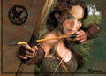 Jennifer as Katniss - katniss-everdeen fan art