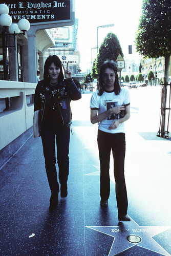 Joan Jett and Rodney Bingenheimer