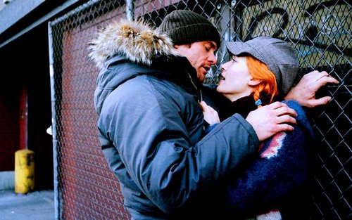 Eternal Sunshine wallpaper containing a chainlink fence and a street called Joel & Clementine