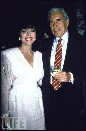 Dynasty wallpaper containing a business suit entitled John Forsythe and Joan Collins