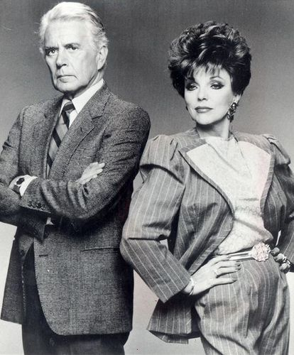 John Forsythe and Joan Collins