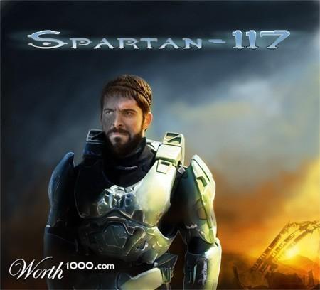 King Leonidas as Spartan 117