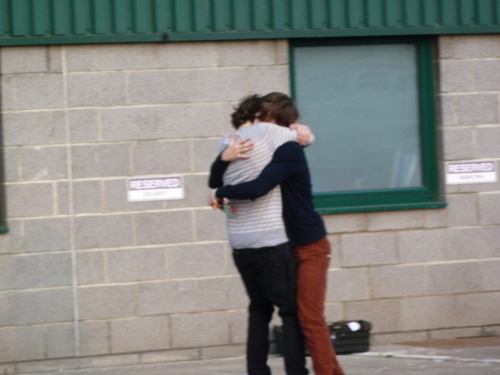 One Direction wallpaper probably with a street called Larry Stylinson<333 Bromancin'