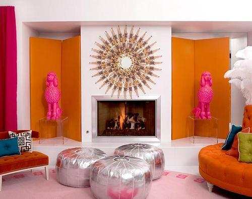 Pink (Color) wallpaper containing a living room, a drawing room, and a family room entitled Look at the size of those Poodles!