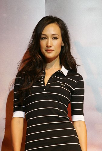 Maggie Q wallpaper probably containing a well dressed person, a legging, and a playsuit entitled Maggie Q
