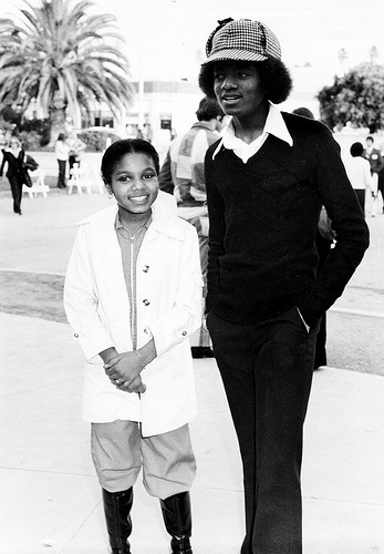 Michael and lil' sis Janet! Too cute! :)