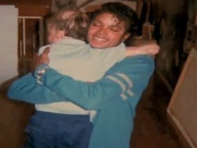 Michael with children's