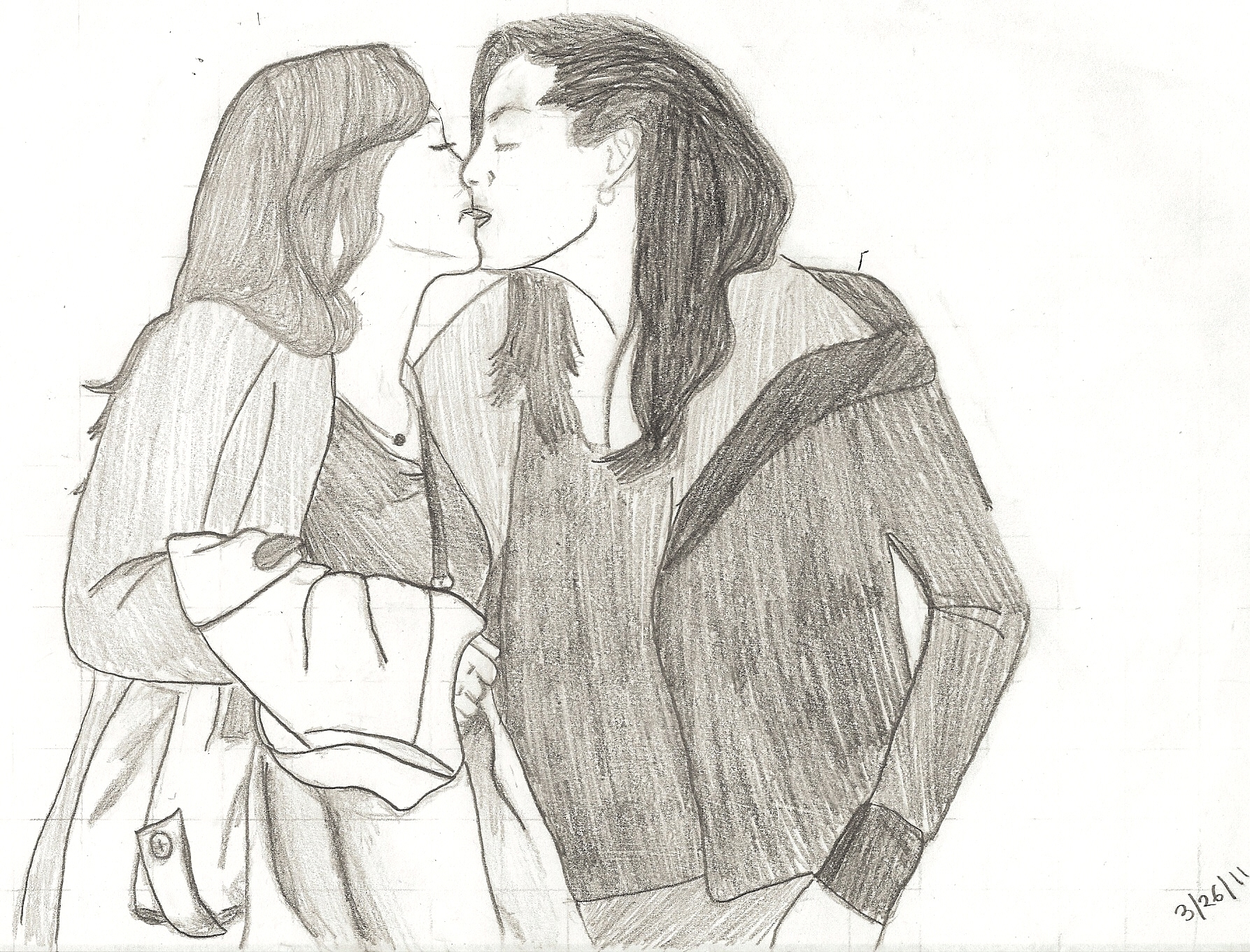 My Drawing Of Calzona Callie And Arizona Fan Art