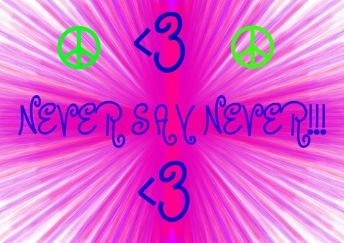 NEVER SAY NEVER!!!