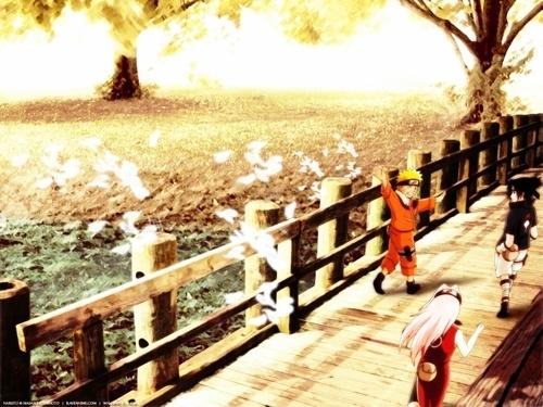 naruto , Sakura and Sasuke