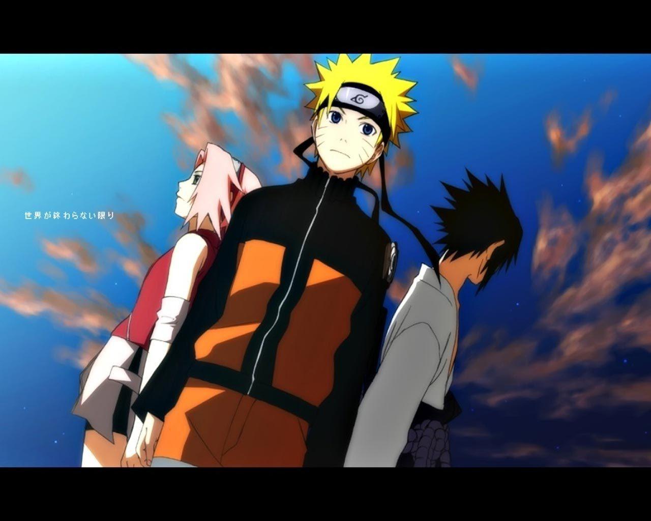 Naruto , Sakura and Sasuke - Naruto Shippuuden Wallpaper ... Naruto And Sakura And Sasuke