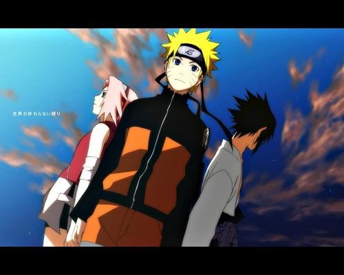 Naruto Shippuuden wallpaper containing anime called Naruto , Sakura and Sasuke