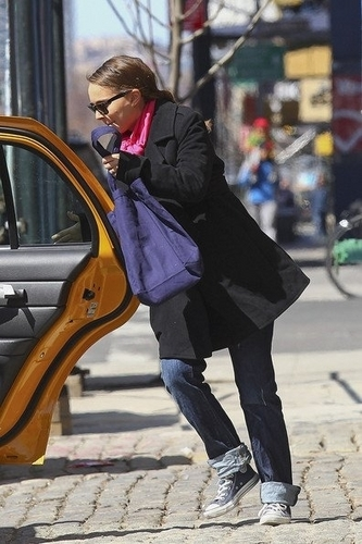 Natalie Portman and Benjamin Millepied, New York City