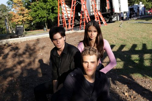 The Vampire Diaries TV Show wallpaper probably containing a street and a mulch titled New S1&2 Stills and BTS