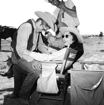On the Set of Giant with James Dean