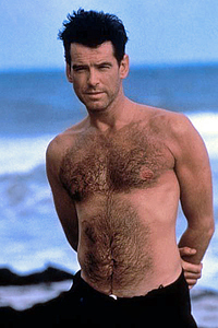 Pierce Brosnan karatasi la kupamba ukuta containing a hunk entitled PIERCE BROSNAN SHIRTLESS IN THE THOMAS CROWN AFFAIR