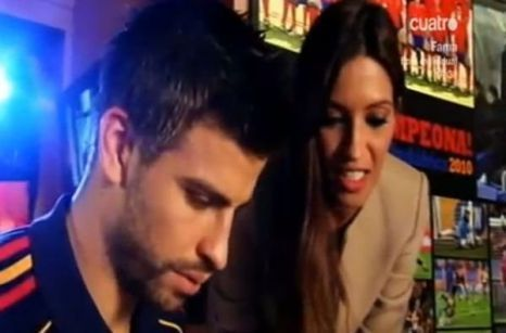 Piqué and Sara Carbonero