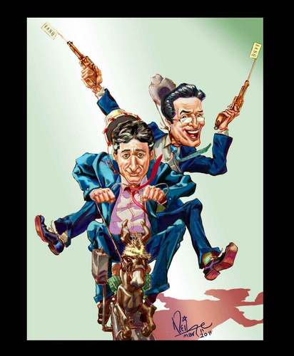 Pony Ride Jon n Steven - the-colbert-report Fan Art