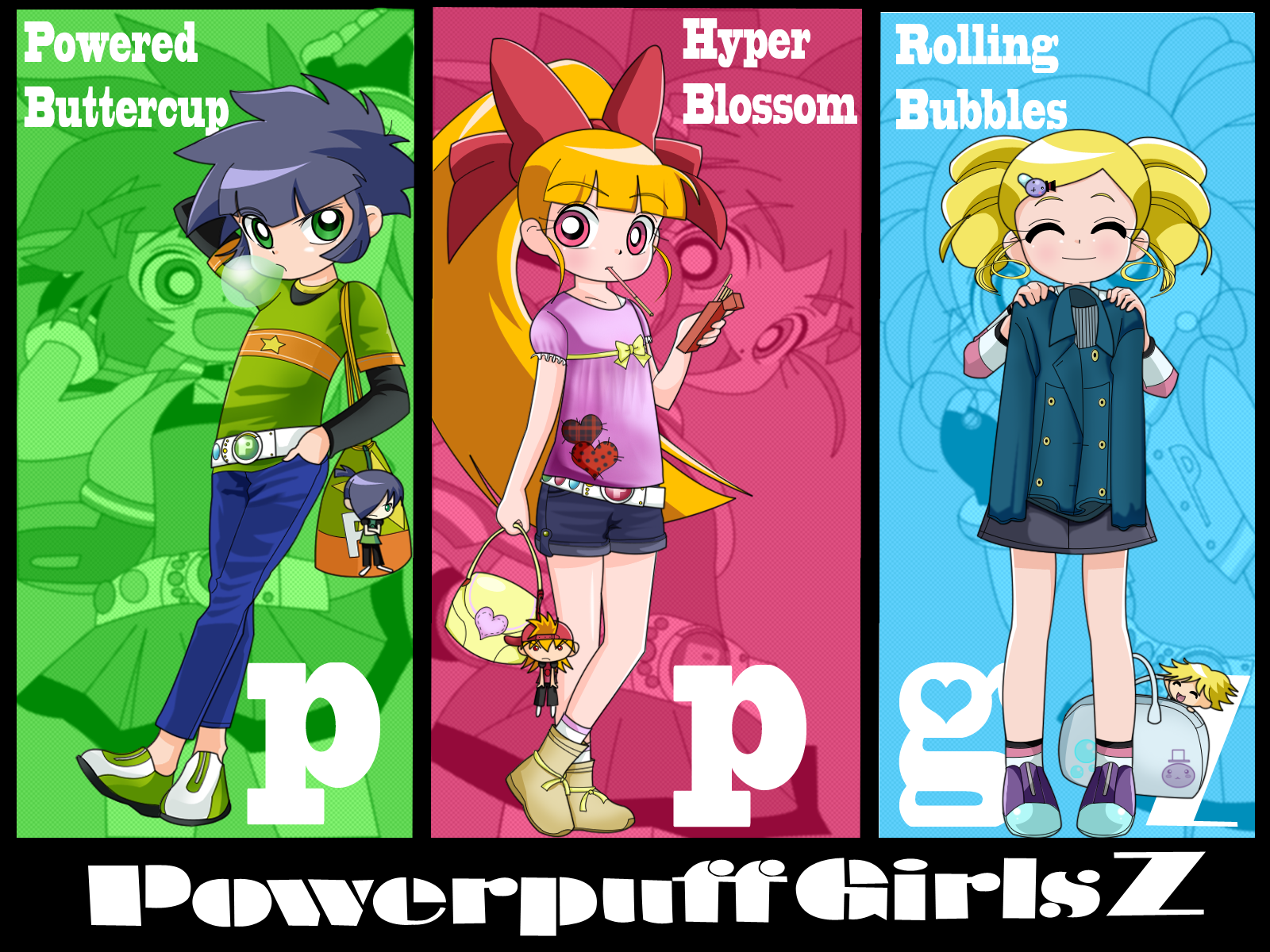 PowerPuff Girls Z And The RowdyRuff Boys Z Powerpuff wall!
