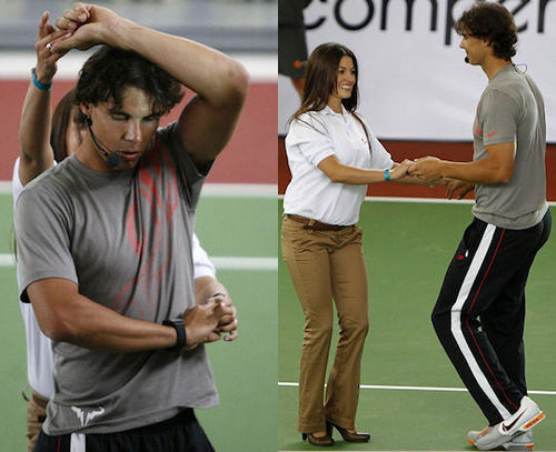 Rafa Nadal has not ashamed dancing with a seductive dancer!