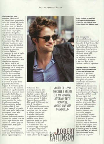 Scans Of Robert Pattinson In Style Italy Cover & Full Interview!