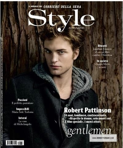 Scans of Robert in Style Magazine (Italy) 2011!