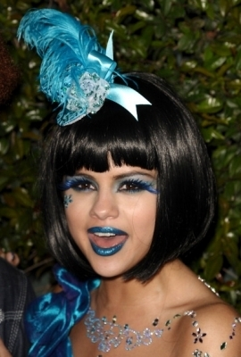 Selena at Perez Hilton's Blue Ball Birthday Party