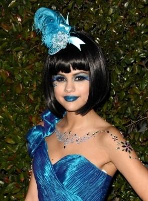 Selena at Perez Hilton's Blue Ball Birthday Party