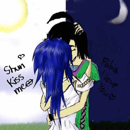 Shun and Faby kiss