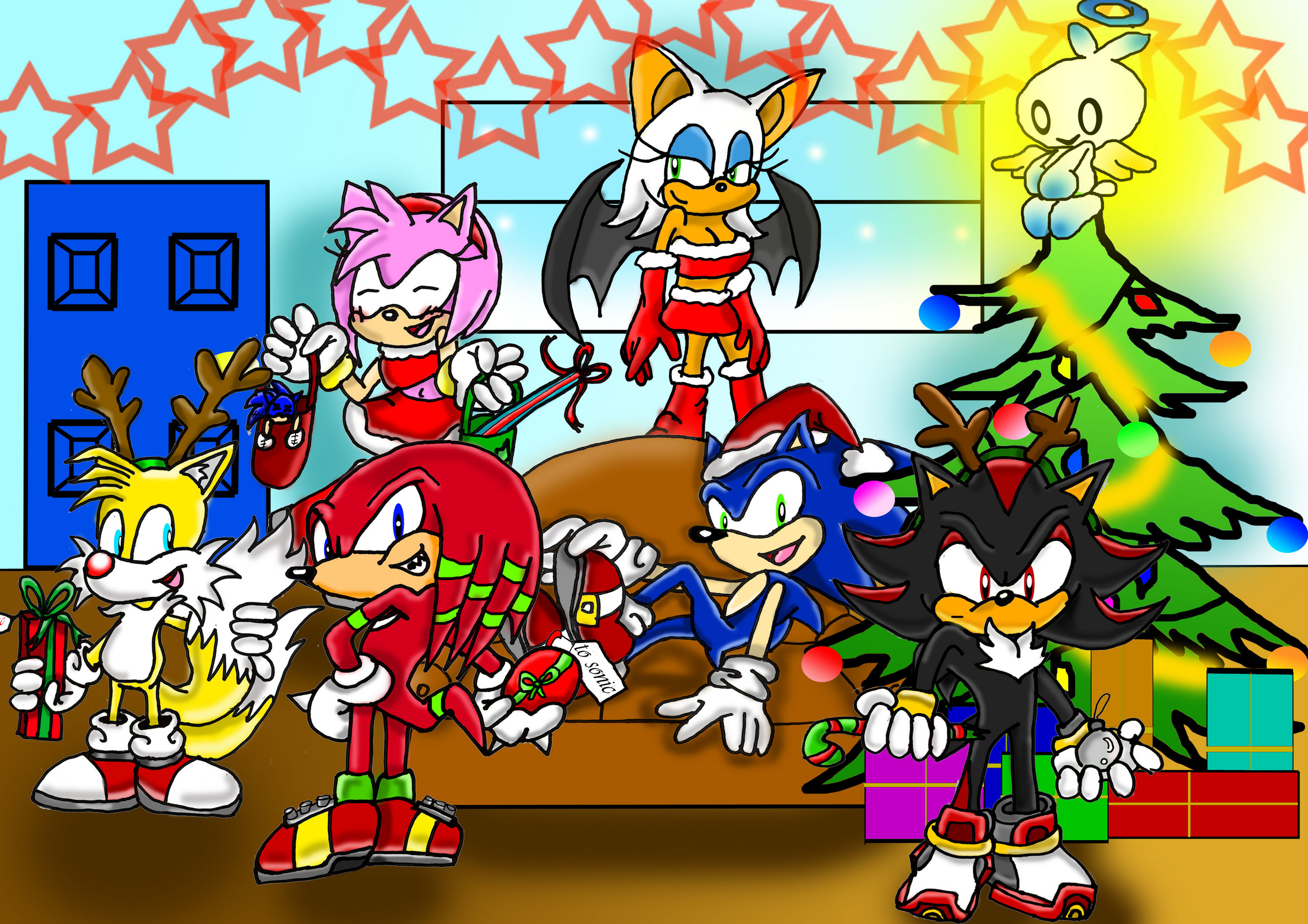 sonic and Friends Bilder Sonic and Friends Weihnachten party HD ...