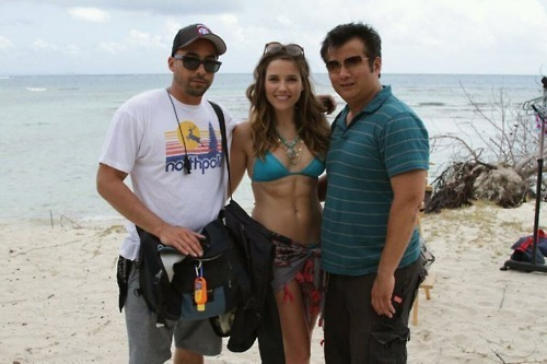 Sophia on set in Puerto Rico