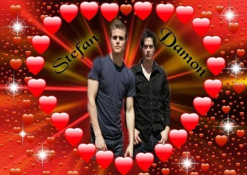 the vampire diaries wallpaper called Stefan & Damon