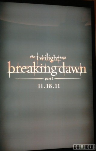The First 'Breaking Dawn' Teaser Poster (One Sheet)