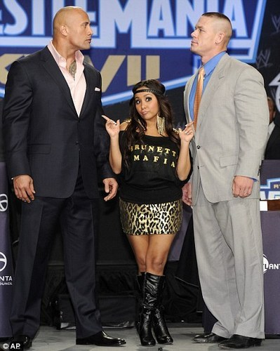WWE images The Rock-Snooki-John Cena wallpaper and background photos