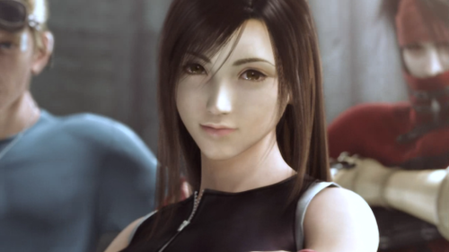 Final Fantasy VII wallpaper probably containing a portrait called Tifa