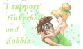 Tinker Bell and Bobble stamp - bobble fan art