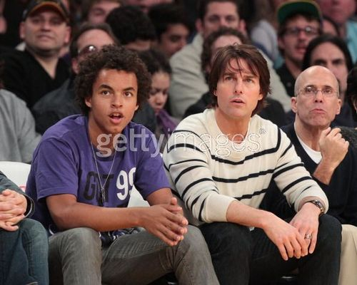 Tom and Beckham link up at the Lakers - 27 March 2011