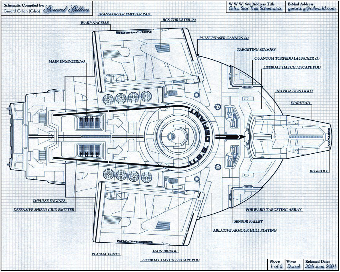Star Trek Defiant Schematic - Basic Guide Wiring Diagram •
