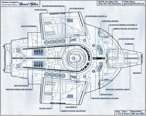 USS Defiant - Schematic