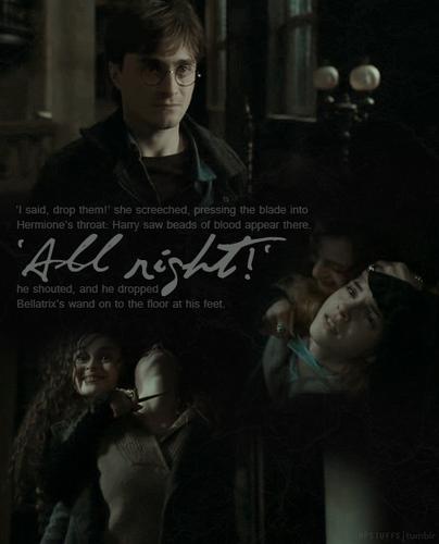 bellatrix, hermione torture scene