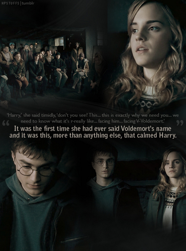 hermione makes harry feel calmer