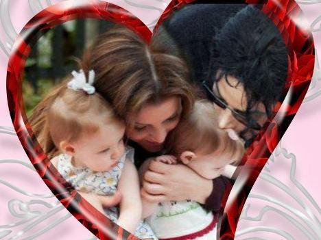 Michael Jackson and Lisa Marie wallpaper probably with a portrait entitled Amore
