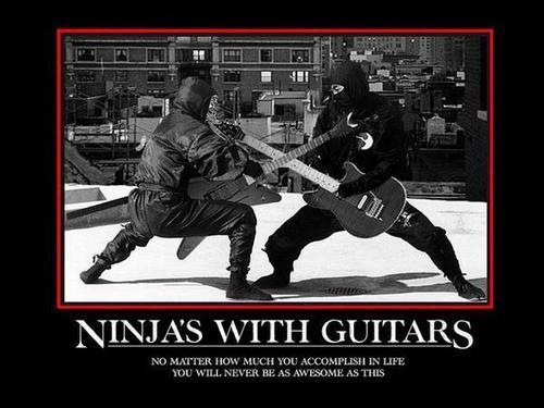ninja guitar awesomeness!!!! XD