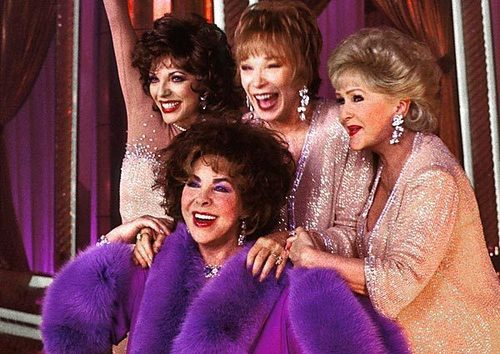 with Joan Collins, Shirley MacClaine and Debbie Reynolds