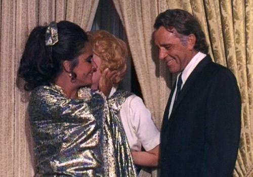 with Lucille Ball and Richard burton